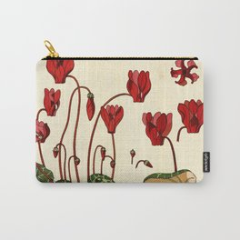 French botanical flower plate - E. Hervegh - Cyclamen Carry-All Pouch