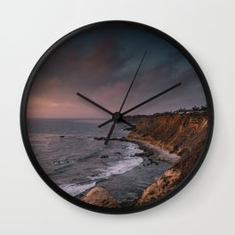 California Coast Sunset Wall Clock