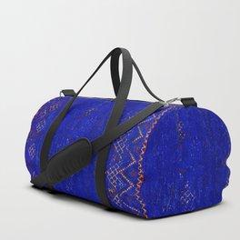-A5- Royal Calm Blue Bohemian Moroccan Artwork. Duffle Bag