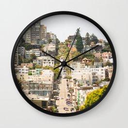 Climbing Hills in San Francisco Wall Clock