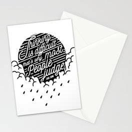 Thinking is diffficult... Stationery Cards