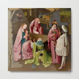 "Hieronymus Bosch ""Adoration of the Magi"" (Philadelphia) Metal Print"