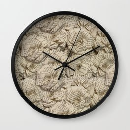 Book Page Flower Roses Wall Clock