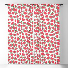 Watermelon World! Kawaii Watermelon Doodle Blackout Curtain