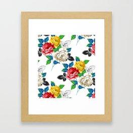 Painted Floral Framed Art Print