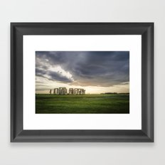 Sunset on Stonehenge Framed Art Print