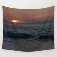 maryland Wall Tapestries featuring Ocean City, Maryland Series - Sunrise by Sarah Shanely Photography