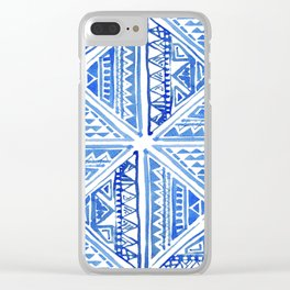Geo tile art Clear iPhone Case