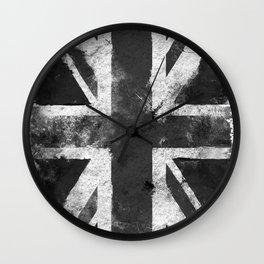 UK flag Black and White Wall Clock