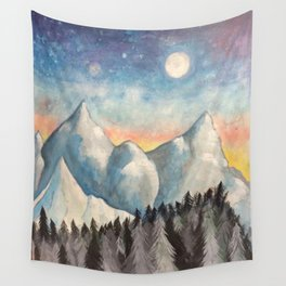With How Sad Steps, Oh Moon Wall Tapestry