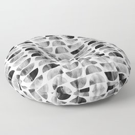 Mid-century Modern Black & White Geometric Floor Pillow