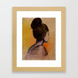 turning away no. 1 Framed Art Print