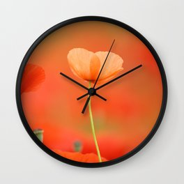 Two poppies 1873 Wall Clock