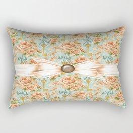 Charming County Roses Rectangular Pillow