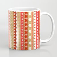 nordic Mugs featuring Nordic Stripe by Faye Maguire Designs