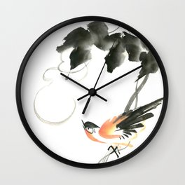 Bird 3- Chinese Shui-mo (水墨) Wall Clock