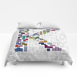 letter k - gaming blocks Comforters
