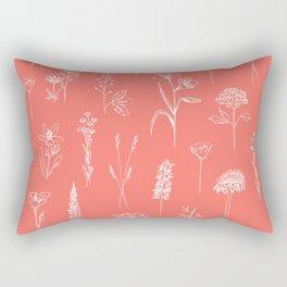 Patagonian wildflowers living Coral Rectangular Pillow