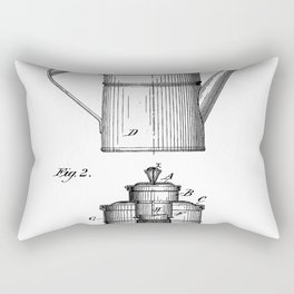 Coffee Patent - Coffee Shop Art - Black And White Rectangular Pillow