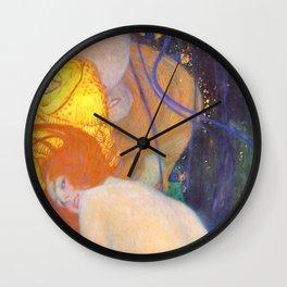 """Gustav Klimt """"Goldfische"""" (1) Wall Clock"""