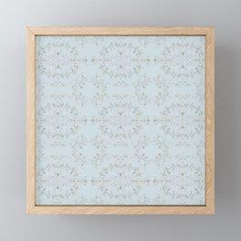 silver filigrane- floral design-tapestry and home decor-romantic Framed Mini Art Print
