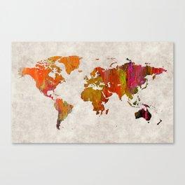 World Map 57 Canvas Print