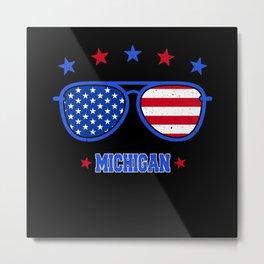 Michigan USA Flag Metal Print