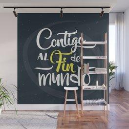 Contigo_frase Wall Mural