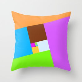Many different sizes of squares in muted colors background Throw Pillow