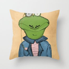 Sophisticated Frog Print Throw Pillow