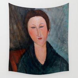 "Amedeo Modigliani ""Buste de jeune fille (Mademoiselle Marthe)"" Wall Tapestry"