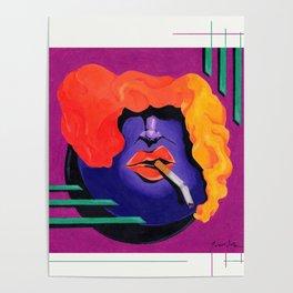 Broke, Smoke, Retro Joke Poster
