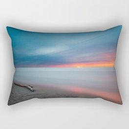 Colorful Sunset Beach Rectangular Pillow