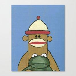 Sock Monkey 81 Canvas Print
