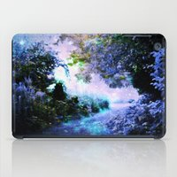 fantasy iPad Cases featuring fantasy garden Periwinkle by 2sweet4words Designs