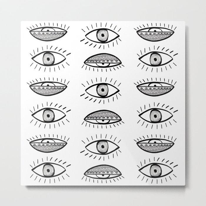 Won't Close My Eyes Metal Print