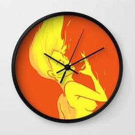 Dancing On The Yellow Dwarf Wall Clock