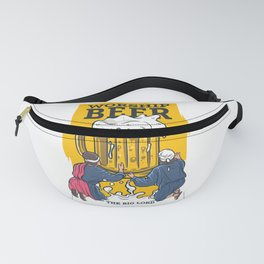 Beer lord, funny illustration for beer lovers Fanny Pack
