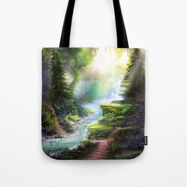 Magical Forest Stream Tote Bag
