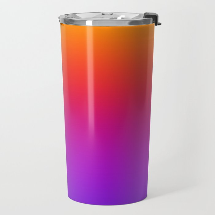 Colorful Gradient Pattern Neon Abstract Rainbow Travel Mug