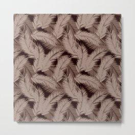 Fancy Feathers Metal Print