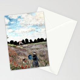 Claude Monet's Poppy Fields Stationery Cards
