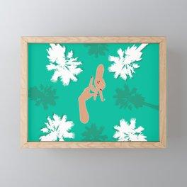 LA Palm Tree Hand Sign Framed Mini Art Print