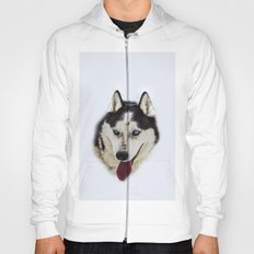 Siberian Husky with blue eyes Hoody