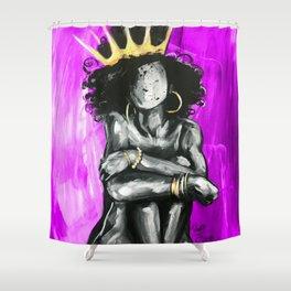 Naturally Queen IX PINK Shower Curtain