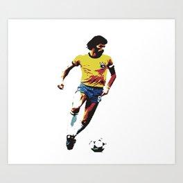 Socrates, Brazilian soccer superman Art Print