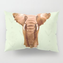 Elephant in Watercolour Pillow Sham