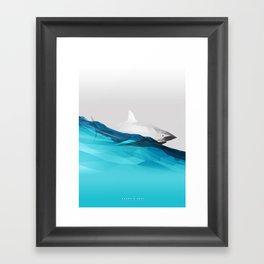 Shark's Surf Framed Art Print