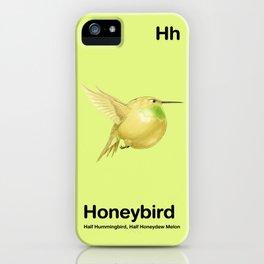 Hh - Honeybird // Half Hummingbird, Half Honeydew Melon iPhone Case