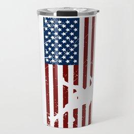 USA flag Travel Mug